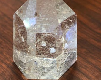 Rutilated quartz point item712