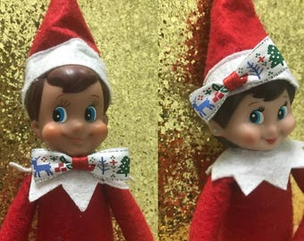 Elf on the shelf ,elf on the shelf clothes and accessories ,elf on the shelf headband bow or bow tie ,