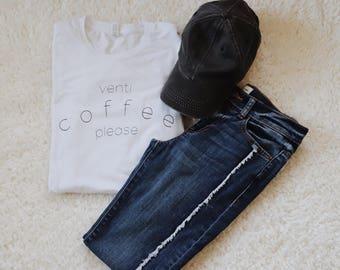 Venti Coffee Please Adult T-Shirt