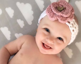 Headband for girl, woman with interchangeable flower. Cute accessory and fashion! Perfect for photo shoot!