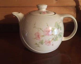 White Floral Teapot