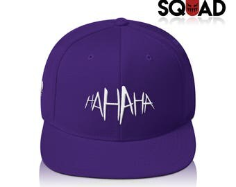 "All Purple ""HA HA HA"" Joker Suicide Squad Snapback"