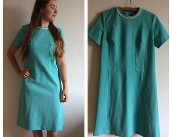 Stunning original vintage 50s blue dress