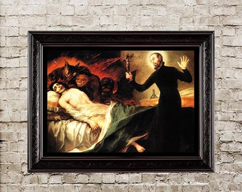 exorcism goya demon possession obsessive possession dying dark print