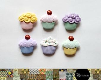 Cupcake Fridge Magnet Set