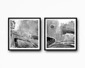minimalism art, Abstract Paintings, Black And White, Large Wall Art, Modern Painting, Modern Minimalist, Modern Art, Abstract Art,set of 2