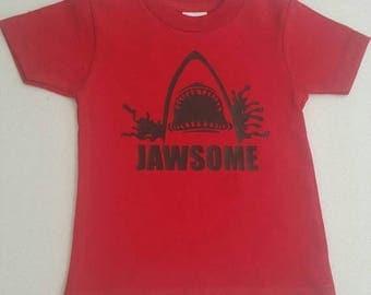 Jawsome Shirt, Toddler Shirt, Jaws Shirt, Boy's Shark Shirt, Shark Shirt, Toddler Top, Boys Shark, Shark clothes, Beach Wear, Kids B