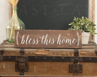 Bless this home wall art Bless this home decor Bless this home wall decor Bless this home gift God bless our home Bless our home Entry sign