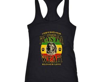 Rasta Lion Wear Original Next level racerback tank RLW816