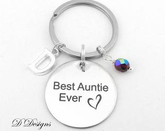 Best Auntie Key Chain, Aunty Keyring, Personalised Auntie Keychain, Love my Aunty Key Ring,  Gifts for Aunties