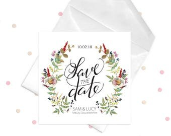 Save the Date Postcard (Printable) - Choose your size