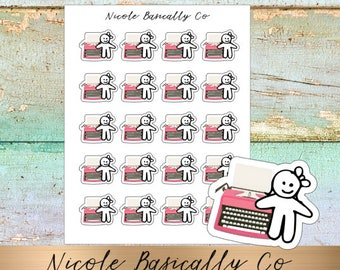 Cutie Pies- Typewriters Planner Stickers