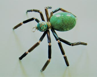 The  Beaded  Turquoise  Spider- Andy