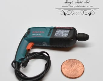 1:6 Dollhouse Miniature Power Drill / Doll Scale Drill / Doll's Tool A26