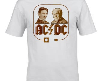 AC & DC - The Electric Men of Power- Men's Tshirt From FatCuckoo MTSUB2087
