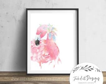Flamingo - Wall Art Print