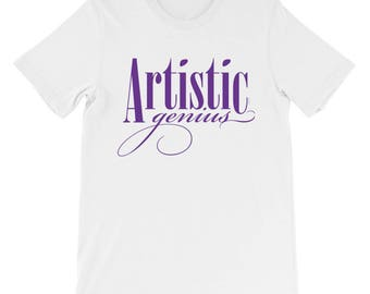 Artistic Genius Unisex short sleeve t-shirt