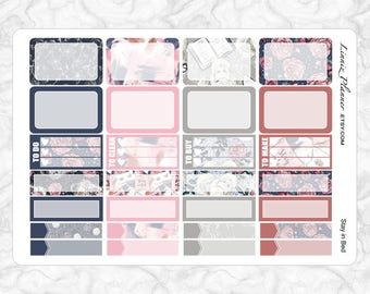 Stay in Bed Small Boxes   Stickers for your Erin Condren, Happy Planner, Kikki K, Filofax and more