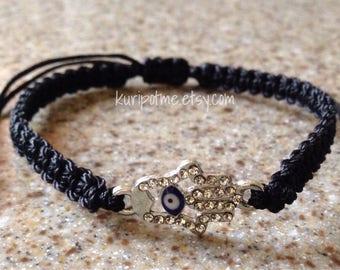 EE02 - Hamsa Evil Eye Bracelet - made to order