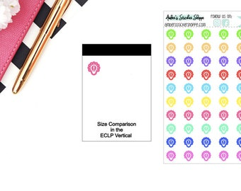 School Multicolored or Black Mini Idea Icon Planner Stickers