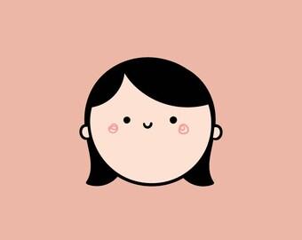 Custom Kawaii Portrait Illustration