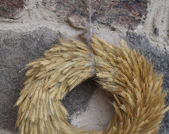 Wheat wreath Natural wreath Original handmade wreath Wedding wreath Door wreath Rustic decor Country style