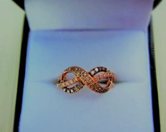 Le Vian Chocolate Diamonds 3/8 ct tw Ring 14K Strawberry Gold
