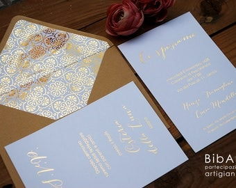 WEDDING INVITATION WEDDING gold/kraft-gold