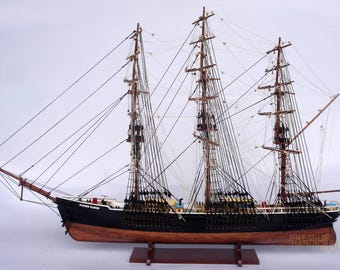 """37"""" Hand-crafted Flying Cloud Display Wooden Ship Model"""