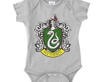 Slyth #1 Crest Color on Infant Baby Rib Lap Shoulder Creeper Onesie