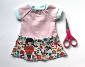 doll clothes, 18 inch doll dress, 16 in doll dress, bambo doll dress, doll dress, doll clothes, 16 in doll clothes, doll clothes, doll cloth