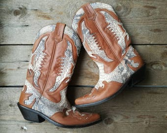 Vintage Kentucky's Western made in Spain cowboy boots eu size 40