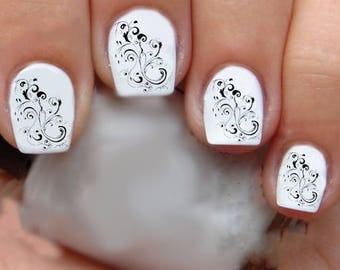 1328 Flowers Waterslide Nail Art Decals Enough For 2 Manicures