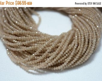 50% DISCOUNT 2mm Peach Moonstone Beads, Micro Faceted Rondelle Beads, Moonstone Rondelles, Gemstone beads 14 Inch,5 Strands