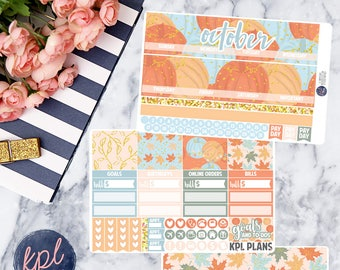October Monthly Planner Sticker Kit. Perfect for Erin Condren Life Planners! OCTOBER