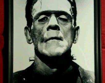 Frankenstein Universal Monster Horror Vintage Style Framed Photo Art Print Gift Present