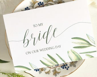 To My Bride On Our Wedding Day, Card Bride, Card For Bride, Wedding Card For Wife, To My Bride Card, To My Wife On Our Wedding Day, Card