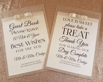Customised Glitter Sign, In Loving Memory Sign, Sweet Cart Sign, Guest Book Sign, Social Media Sign, Welcome to Our Wedding Sign.