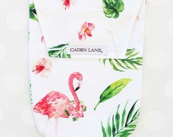 Tropical Floral Flamingo | Watercolor Flamingo Diaper and Wipe Holder | Flamingo Baby Shower | Flamingo Baby Shower Gif