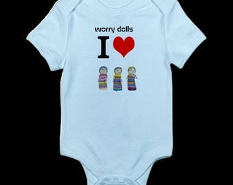 Infant Bodysuit worry dolls