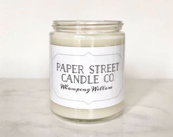 Whomping Willow Candle   Candles   Oakmoss, Amber, Sandalwood Soy Wax Candle   book candle   literary candle