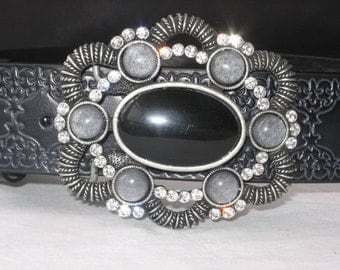Belt Buckle, Silver Belt Buckle, Women's belt buckle and leather belt, fashion belt