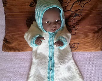 Bunting with hood for Reborn Doll or Preemie up to 50/51cms
