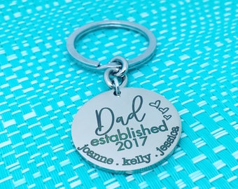Personalised Dad Gift, Dad Established, Personalised Keyring, Dad Keyring, Custom Dad Gift, Fathers Day Gift, Fathers Day Keychain, New Dad