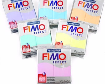 FIMO Effect Polymer Oven Modelling Clay - 57g - Set of 6 - Pastel Finish