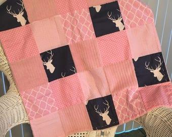 Baby Girl Patchwork Chenille Blanket