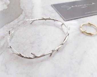 SALE!!**Rustic Silver Branch Bracelet , Natural Bracelet, Twig Bracelet, Twig Cuff, Minimalist, Minimal, Silver Cuff, Branch Cuff, Natural C