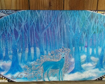 Patronus Painting Inspired by Harry Potter