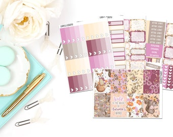 Fall Woodland Collection-Happy Planner Stickers