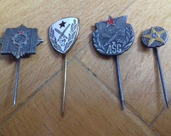 Lot of 4 vintage military badge-JNA-Yugoslavia 70's